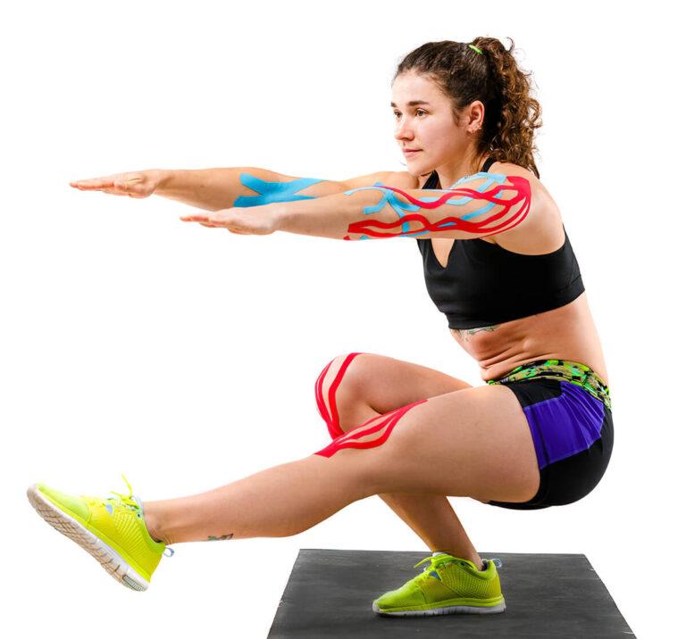 Stock photo theme kinesiology tape rehabilitation of athletes beautiful girl with beautiful booty doing 1017821701